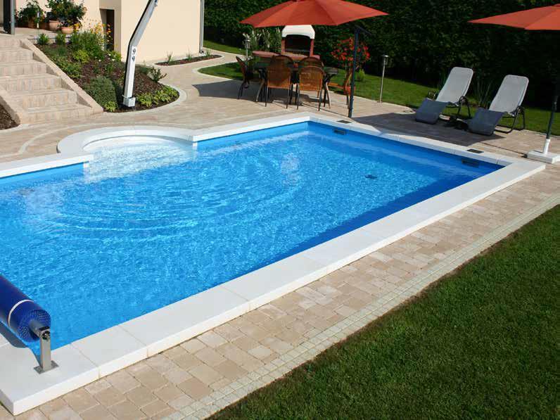 Luksus Styropor Pool m/trapp