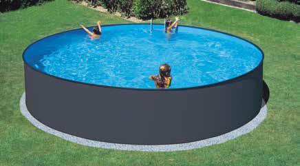 Basic Pool Rund antrasittfarget