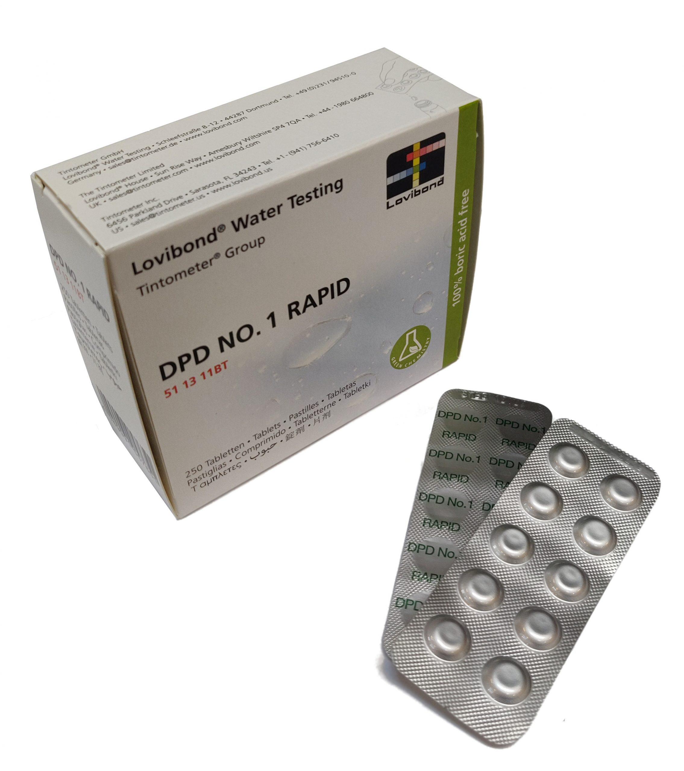 DPD Nr. 1 Rapid Fritt klor (håndrister)
