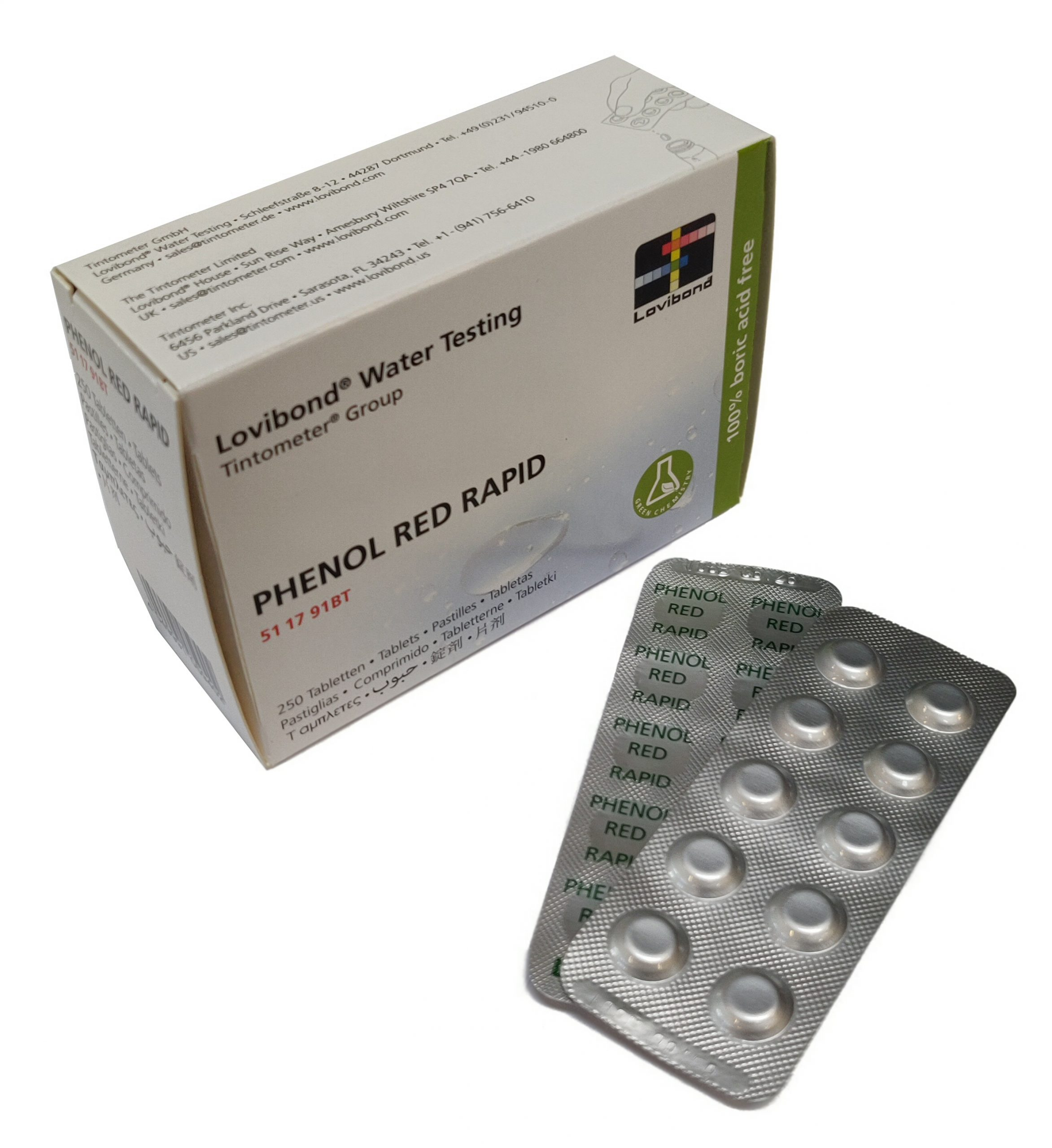 pHenol Red Rapid, pH (håndrister)
